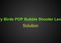 Angry Birds POP Bubble Shooter Level 34 Hints, Tips, strategy and Walkthrough